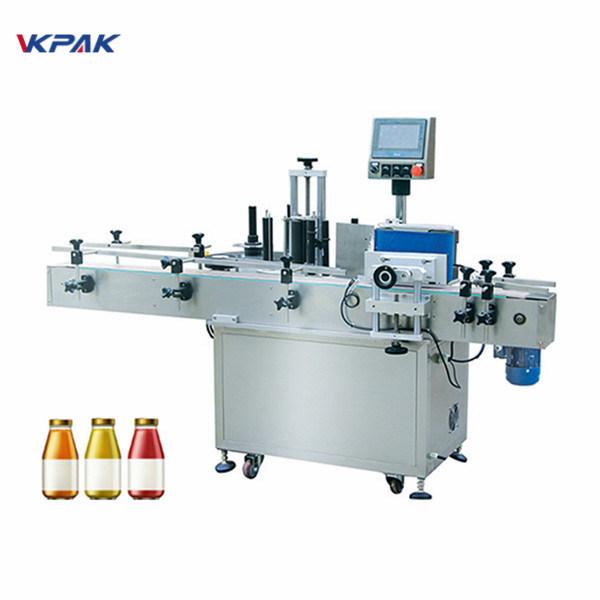 5L पीने के पानी की गोल बोतल स्टिकर लेबलिंग मशीन