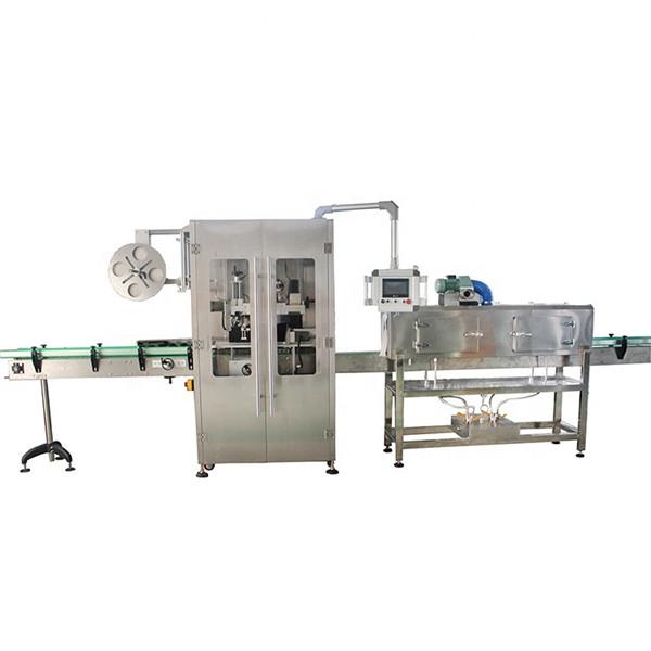 विभिन्न बोतलों के लिए डबल पक्षीय स्टेनलेस स्टील हटना आस्तीन लेबलिंग मशीन