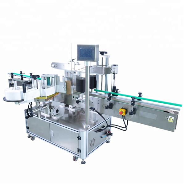 अनियमित कंटेनरों के लिए हाई स्पीड राउंड बोतल स्टिकर लेबलिंग मशीन
