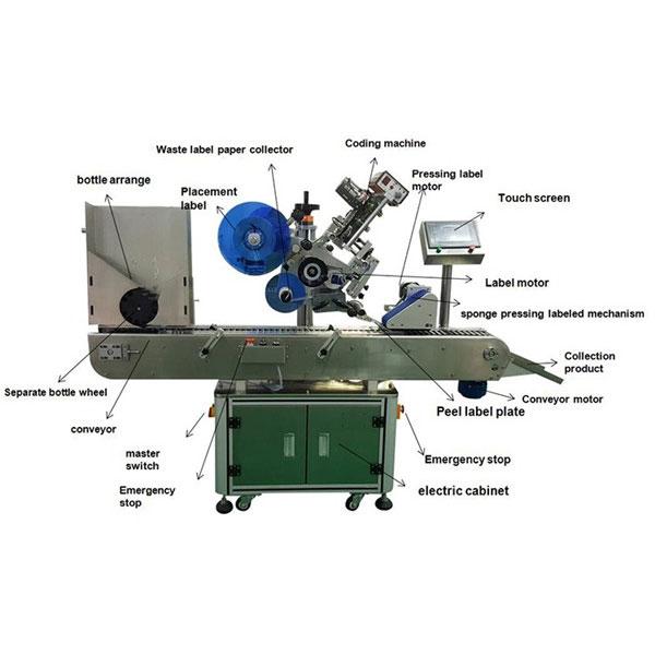 फार्मास्युटिकल शीशी स्टिकर लेबलिंग मशीन 10-30 मिमी की बोतल व्यास