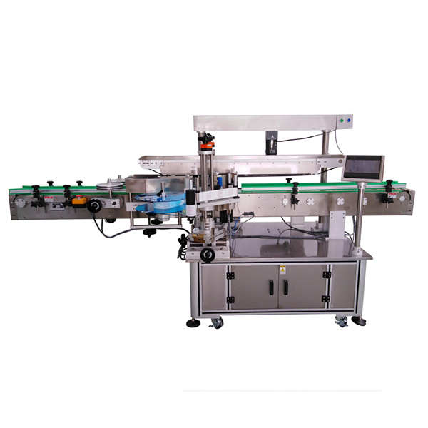 तीन लेबल स्वयं चिपकने वाला लेबलिंग मशीन