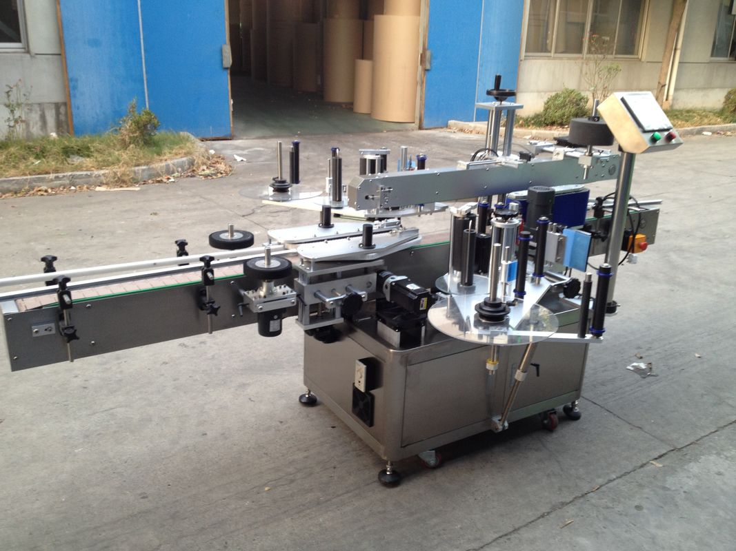 प्रेशराइज्ड बॉटल ऑटोमैटिक स्टीकर एप्लीकेटर, 550 किग्रा ऑटो लेबलिंग मशीन