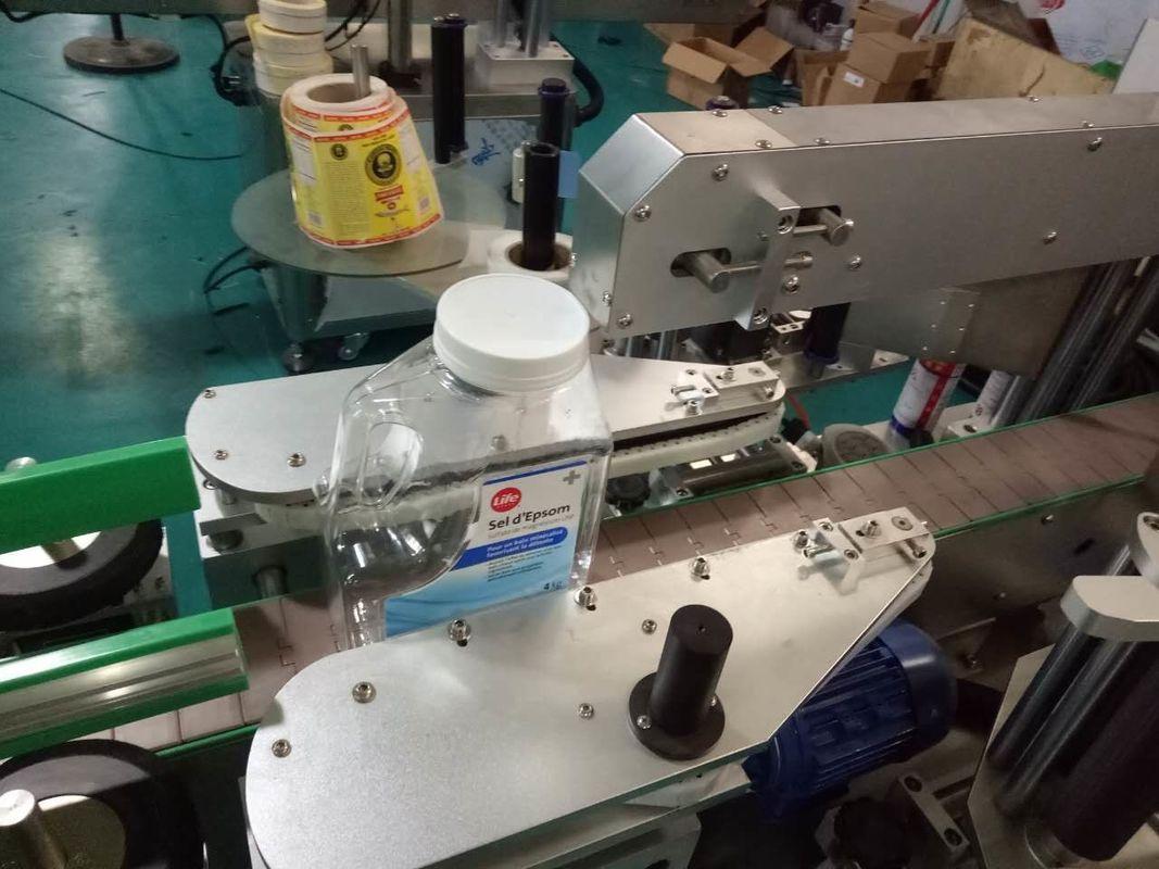 पर्सनल केयर प्रोडक्ट्स के लिए दो साइड्स स्क्वायर बॉटल स्टीकर लेबलिंग मशीन
