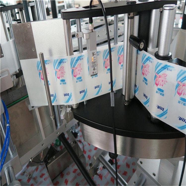 स्वचालित सिंगल / डबल साइड हेक्सागोन राउंड बोतल स्टिकर लेबलिंग मशीन