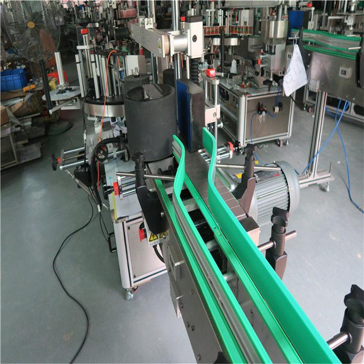 दो स्वचालित स्टीकर लेबलिंग मशीन दोहरी पक्षीय लेबलर 6000-8000 बी / एच