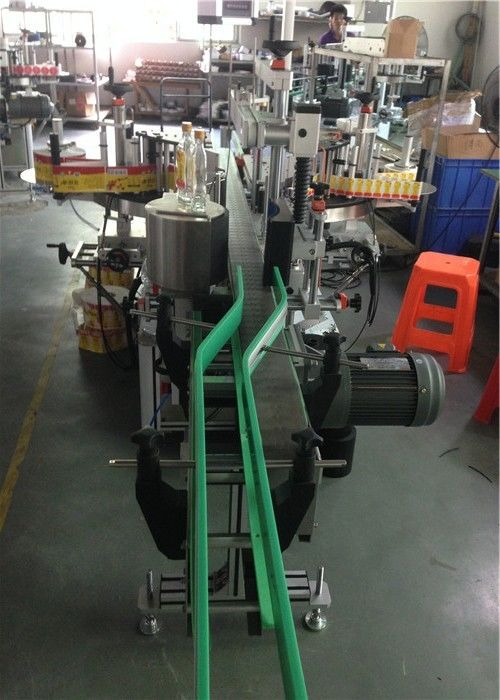 सीई स्टीकर लेबल एप्लीकेटर, वाइन बोतल लेबलिंग मशीन सर्वो मोटर्स ड्राइविंग