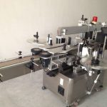 स्वचालित बीयर की बोतल डबल साइड स्टिकर लेबलिंग मशीन