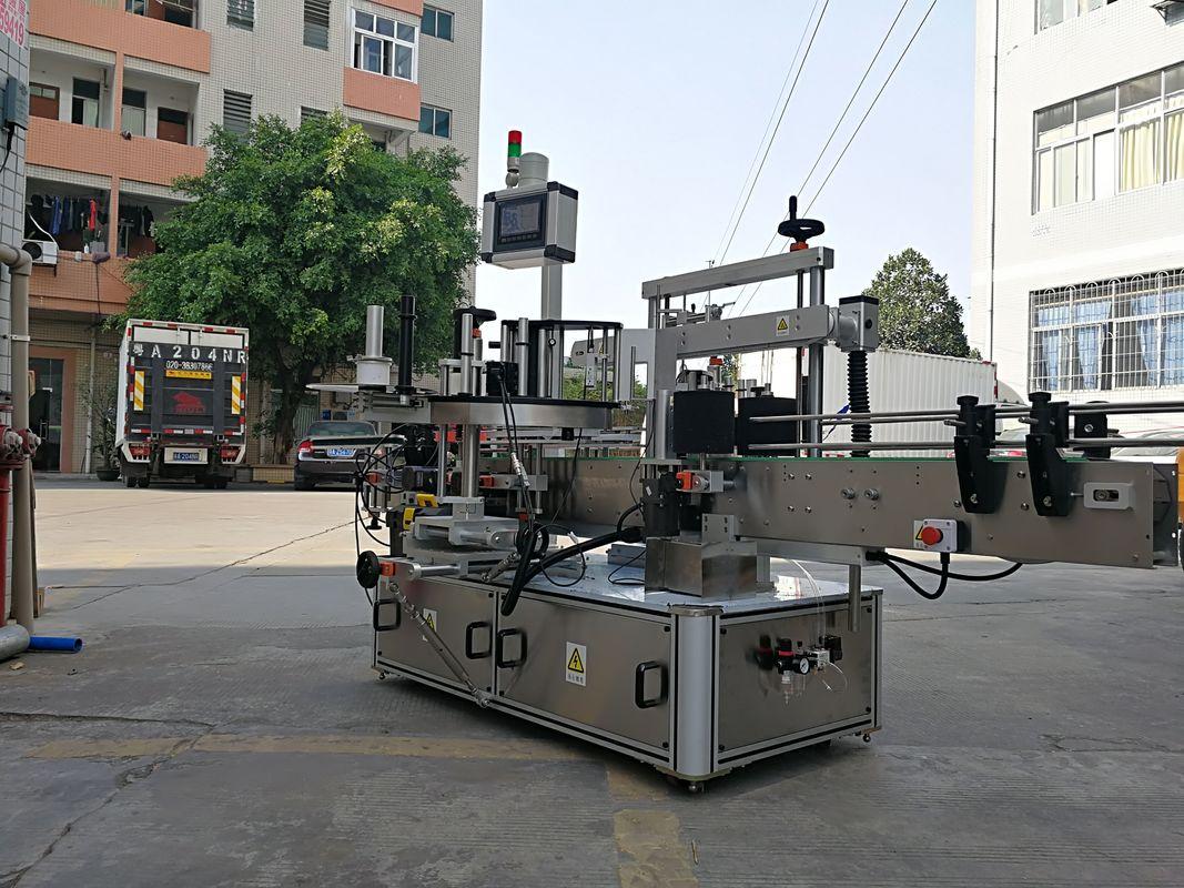 हाई-स्पीड ऑटोमैटिक थ्री साइड स्क्वायर बॉटल लेबल एप्लीकेटर मशीन