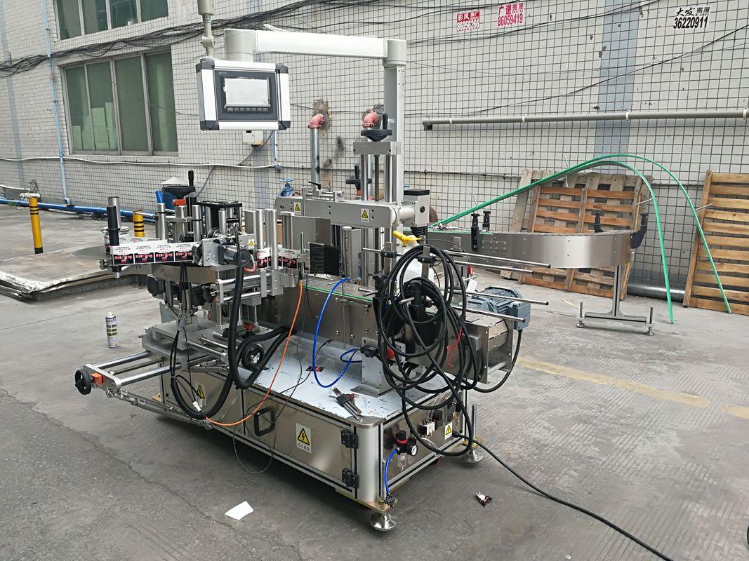 कोडर के साथ पूर्ण स्वचालित चिपकने वाला डबल साइड बोतल लेबलिंग मशीन