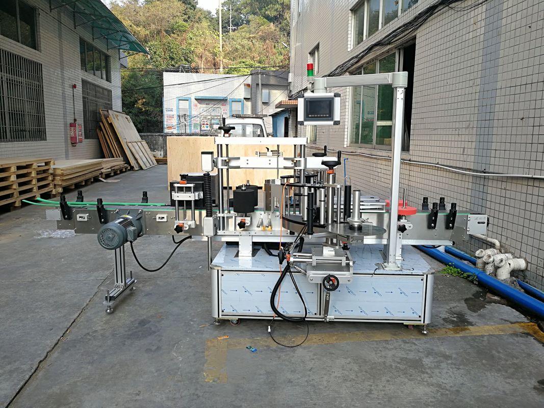 स्वचालित स्टीकर फ्लैट बोतल लेबलिंग मशीन एकीकृत सामने और पीछे