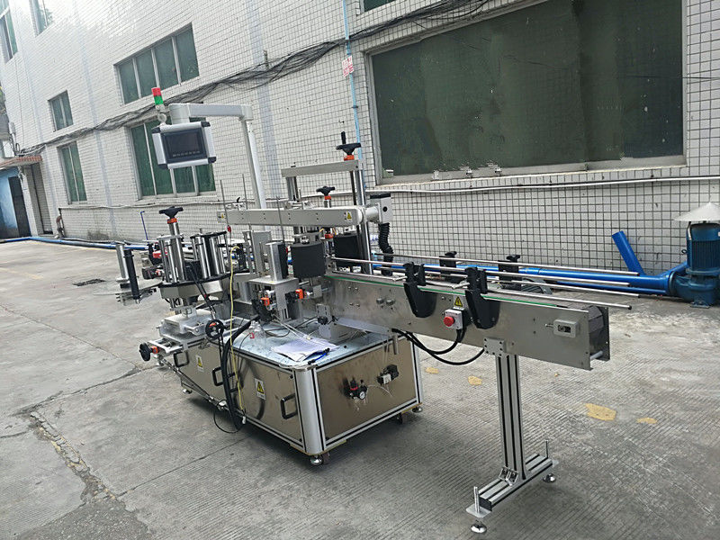 स्वयं चिपकने वाला स्टीकर डबल पक्षीय बोतल लेबलिंग मशीन पूर्ण स्वचालित
