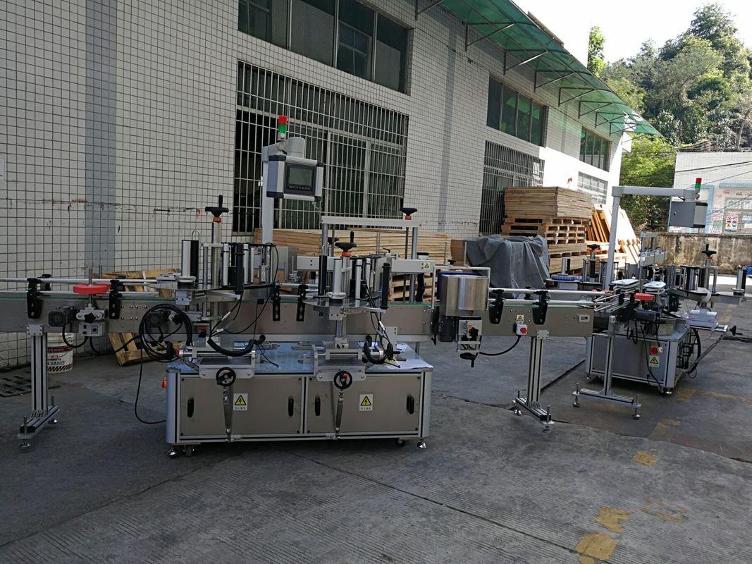 फ्लैट / स्क्वायर बोतल स्टीकर लेबलिंग मशीन पूर्ण स्वचालित 5000-8000B / एच क्षमता